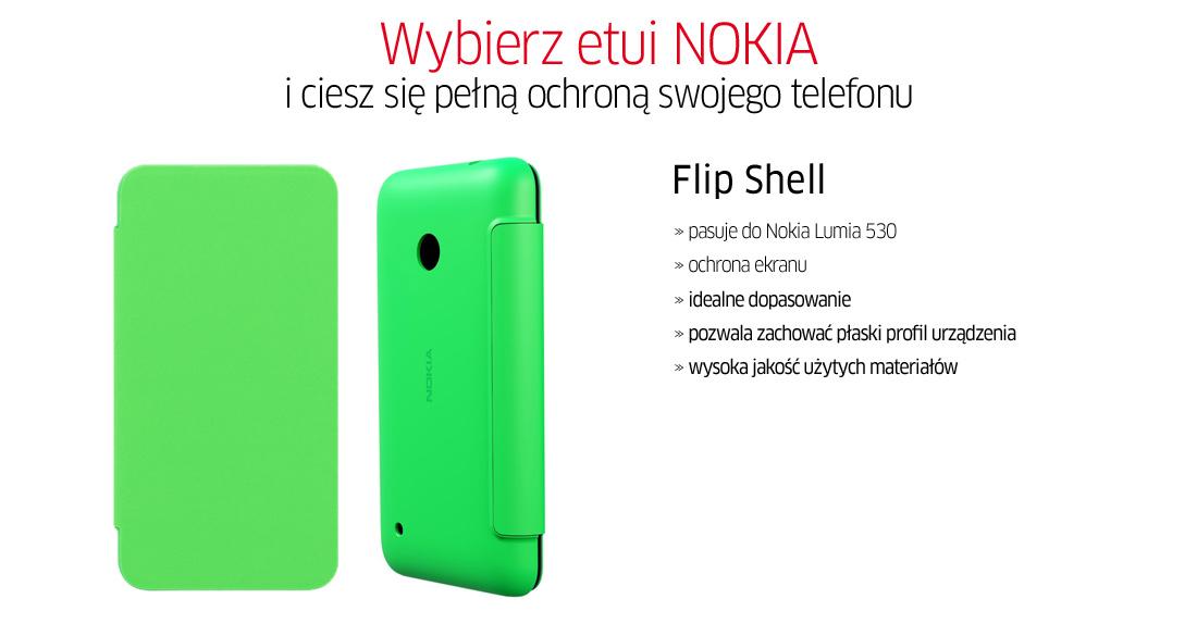 Nokia Flip Shell For Lumia 530 Etui Nokia Flip Shell do Lumia