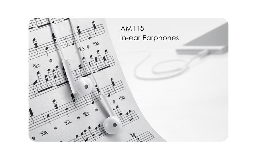 Słuchawka/Zestaw głośnomówiący Huawei AM115 Przewodowy 3.5mm biały