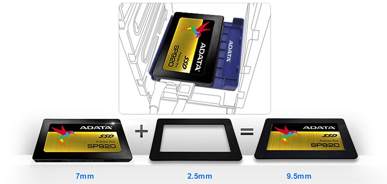 ADATA 256GB SATA SSD Premier Pro SP920  Zestaw montażowy