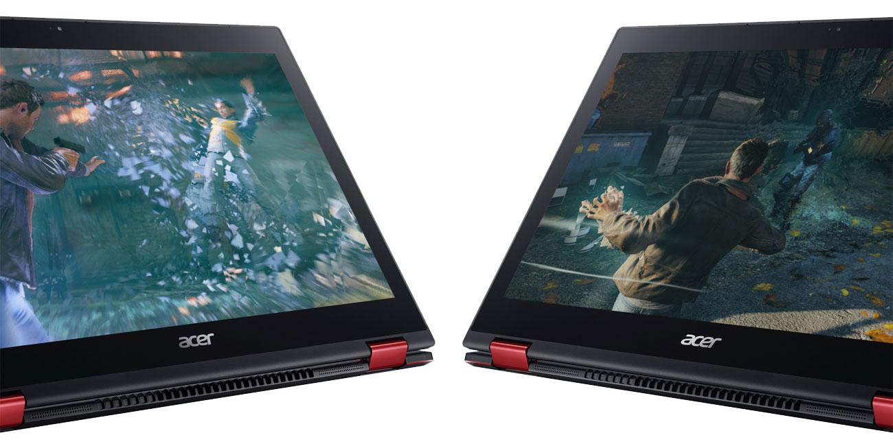 Acer Nitro 5 Spin Wyraźny obraz na ekranie FHD IPS