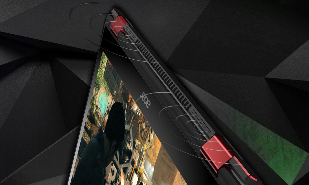 Acer Nitro 5 Spin Kinowa jakość dźwięku, Potężne brzmienie