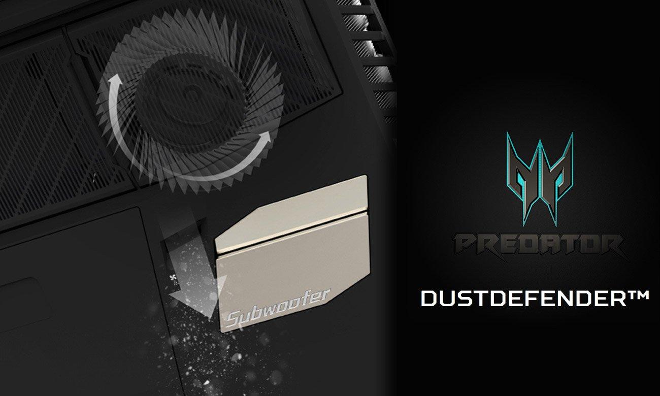Acer Predator GX21 Ochrona przeciw kurzowa
