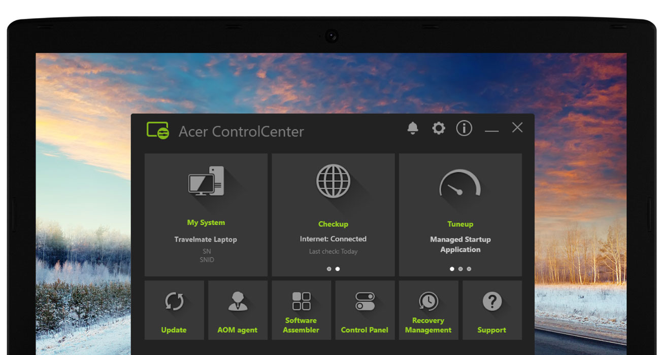 Acer Travelmate P2410 Aplikacje Acer ControlCenter oraz Acer Office Manager