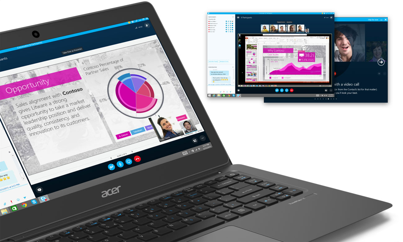 Acer TravelMate X349 Certyfikat Skype for Business