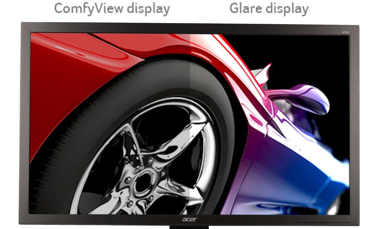 Acer B276HLCBMDPRX Mniej odblasków, mniej zmęczone oczy