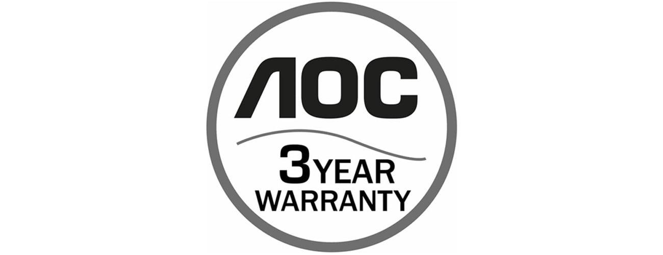 AOC E2475PWJ Trzyletnia gwarancja producenta