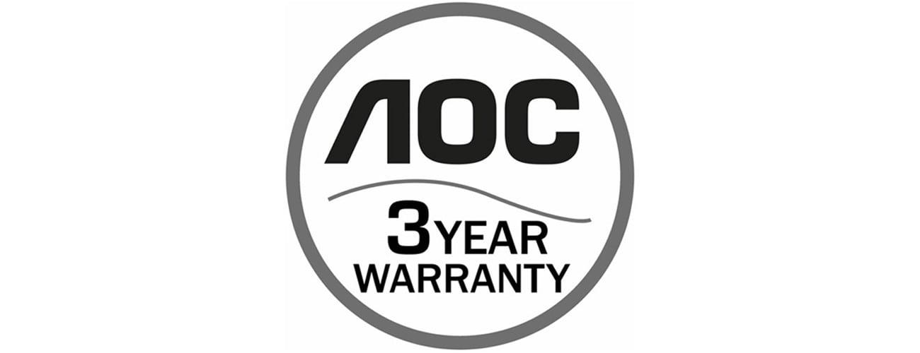 AOC G2460PF Trzyletnia gwarancja producenta