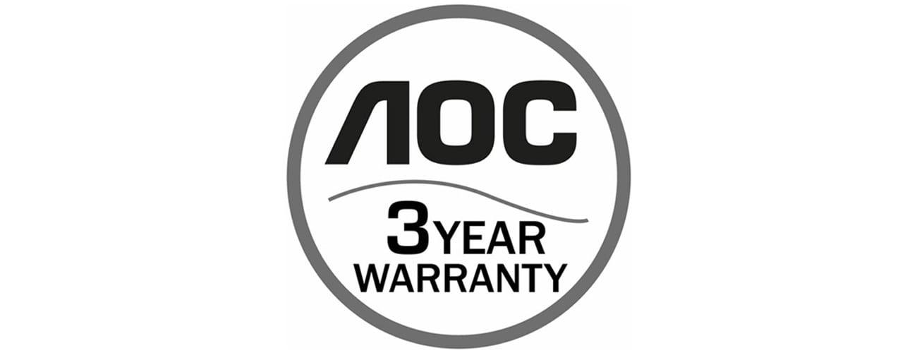 AOC I2475PXQU Trzyletnia gwarancja producenta
