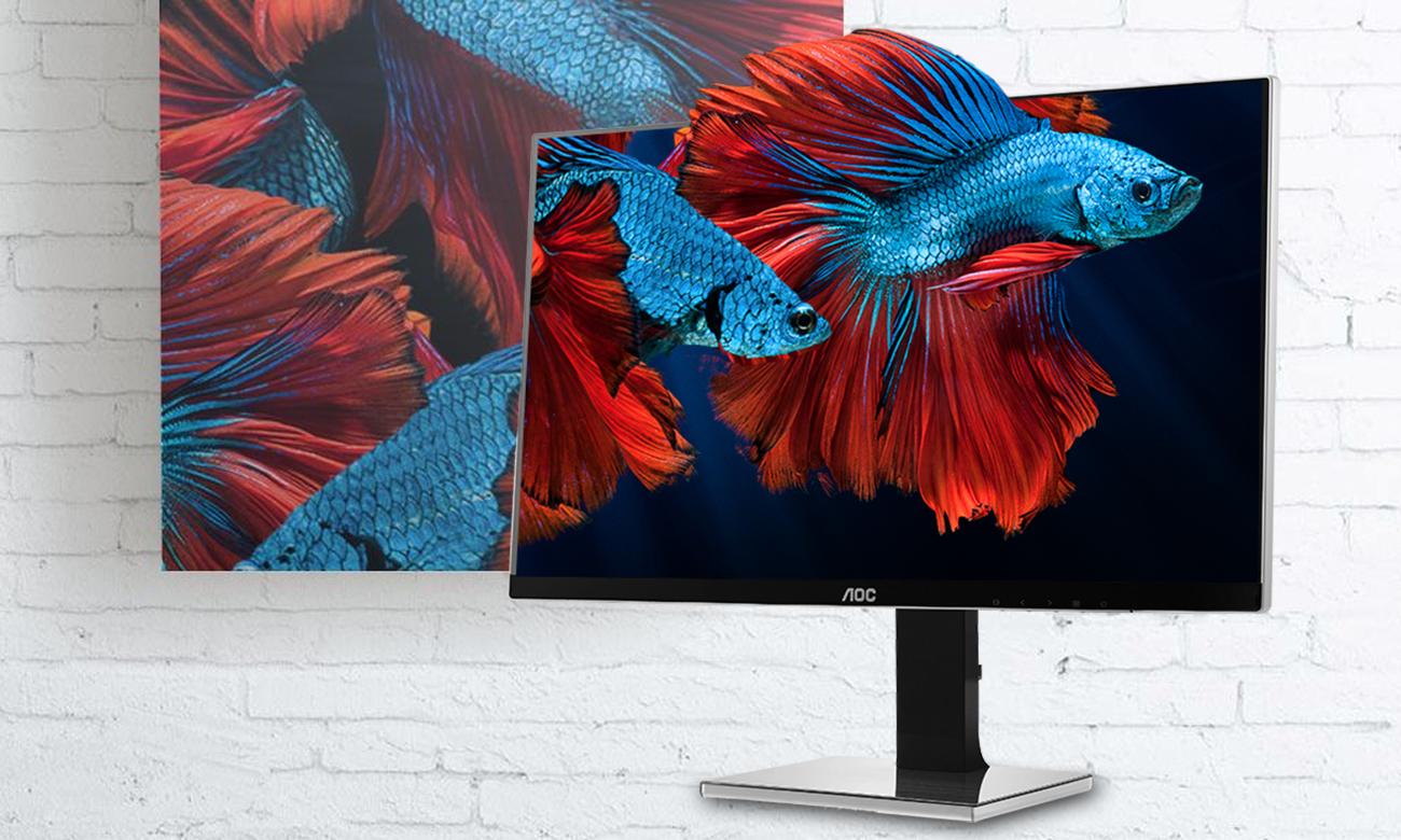 AOC U2777PQU Wszechstronny 27 calowy ekran, Matryca IPS ze 100% pokryciem sRGB