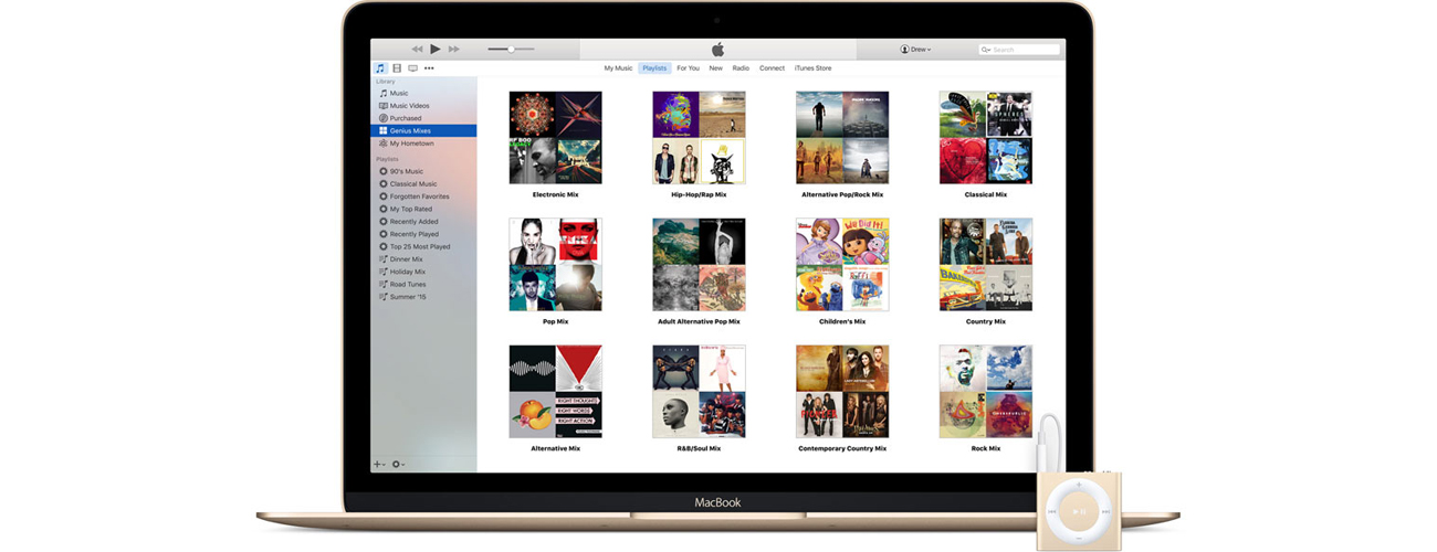Apple iPod shuffle 2GB Funkcja Genius Synchronizuje z nastrojem
