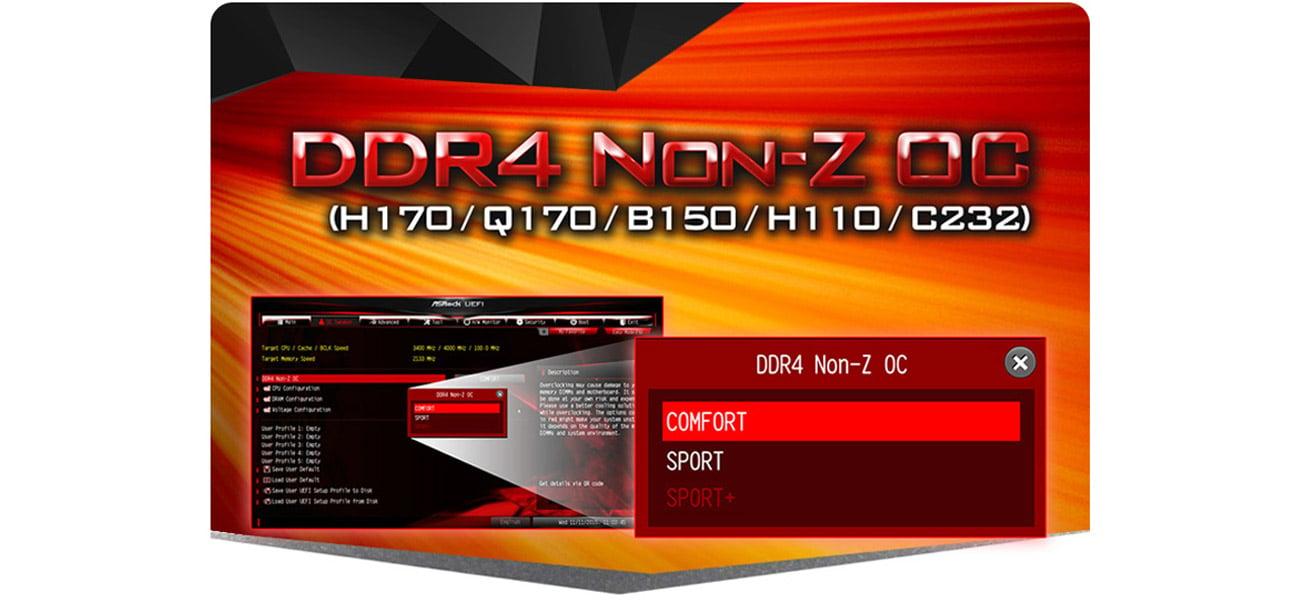 ASRock H110M-DGS DDR4 Non-Z OC