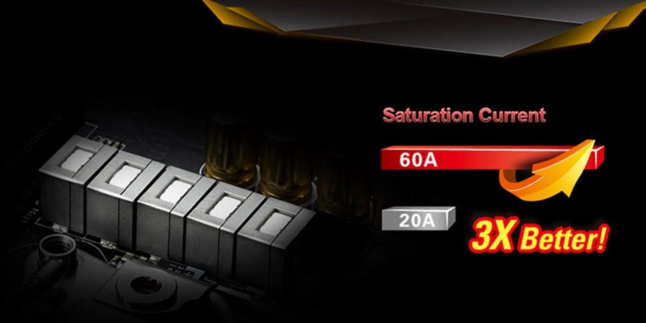 ASRock H110M-ITX/AC Dławik mocy 60 A