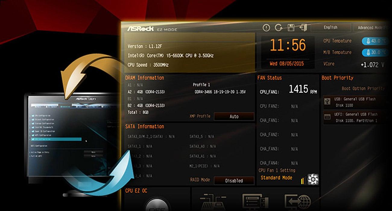 ASRock H110M-ITX/AC Tryb UEFI EZ