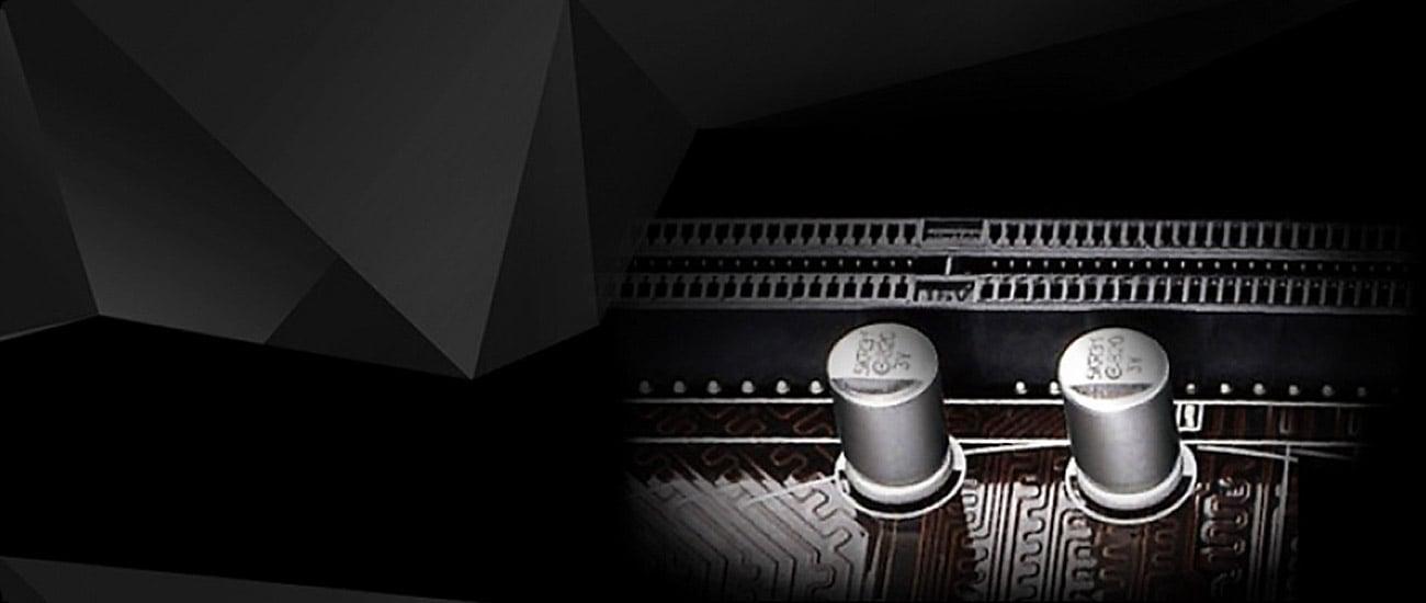 ASRock H110M-ITX/AC Kondensatory typu Solid