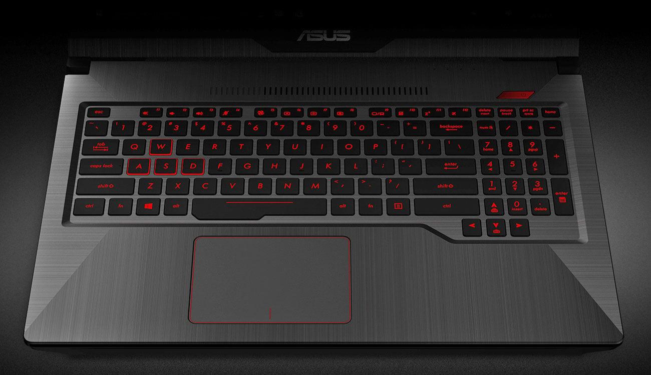 ASUS FX503VD Niskoprofilowa klawiatura z funkcją Anti-Ghosting