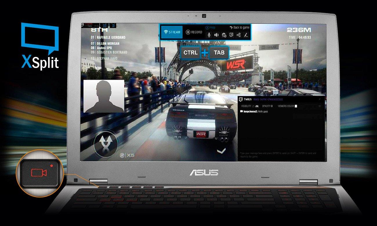 ASUS ROG G752VM XSplit GameCaster
