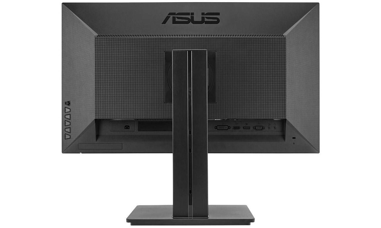 ASUS PB277Q porty HDMI, DisplayPort i dual-link DVI