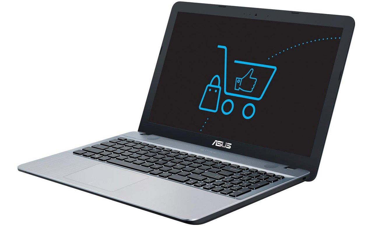 Srebrny ASUS R541NA USB typu C