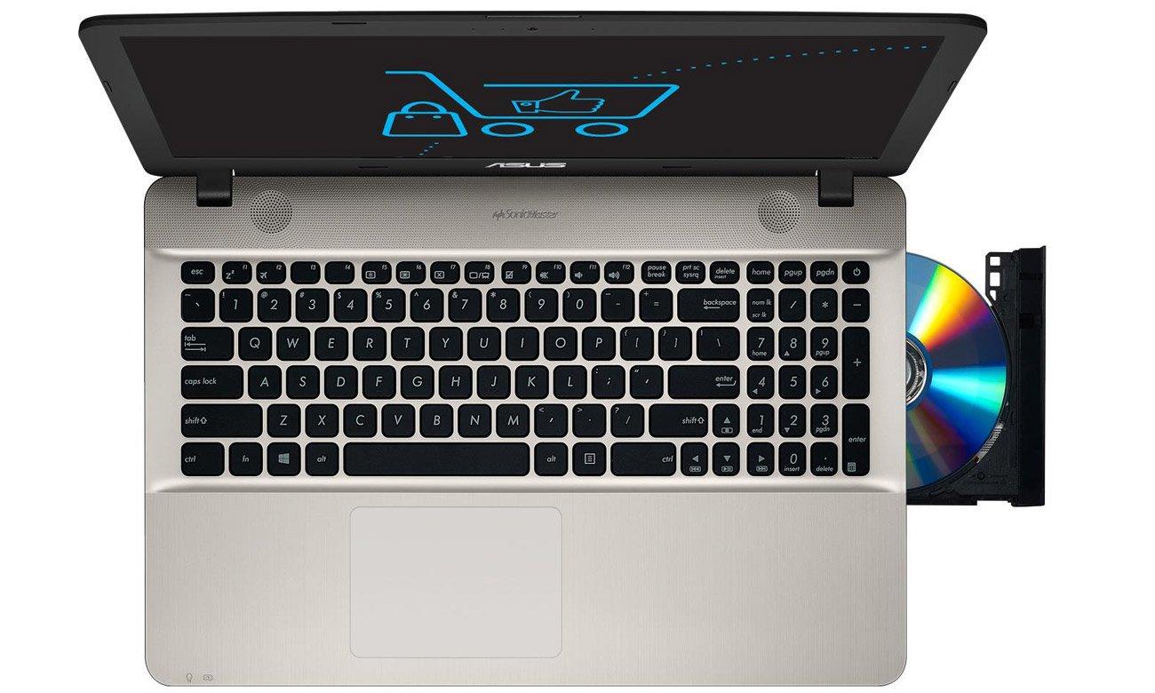 Czarny ASUS R541UA ergonomiczna klawiatura, Smart Gesture
