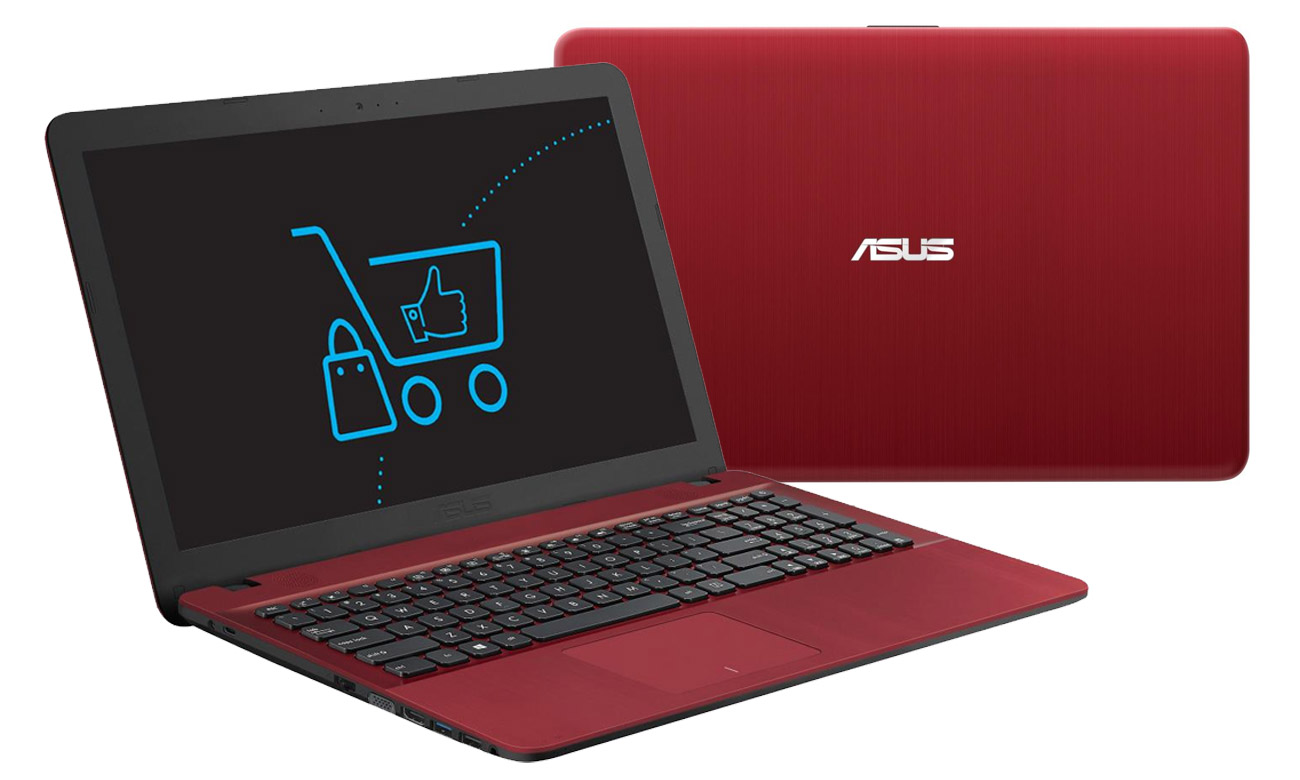 Czerwony ASUS R541UA ergonomiczna klawiatura, Smart Gesture