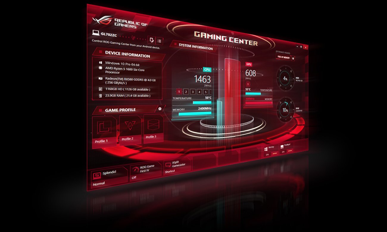 ASUS ROG Strix GL702ZC ROG Gaming Center