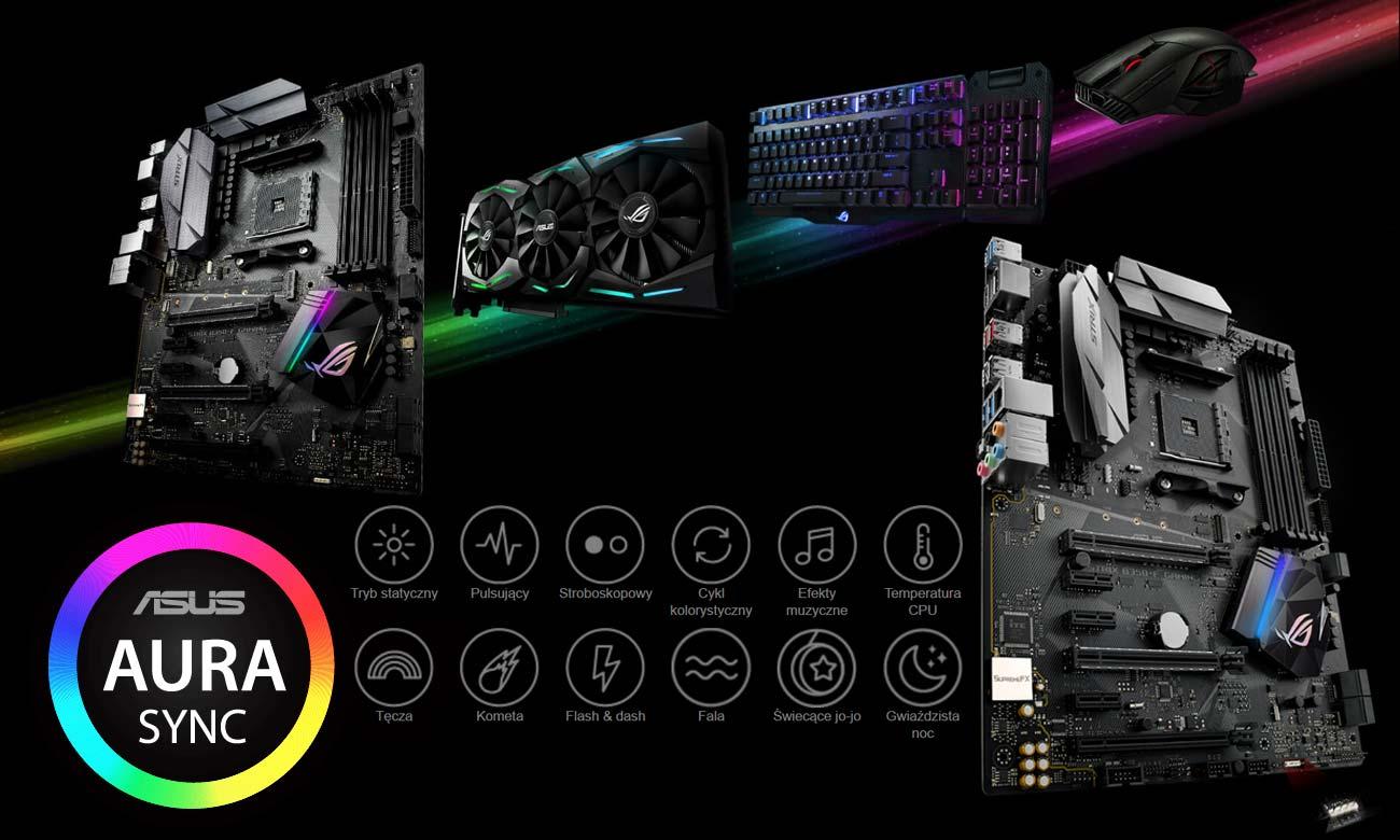 ASUS STRIX B350-F GAMING Aura Sync RGB LED