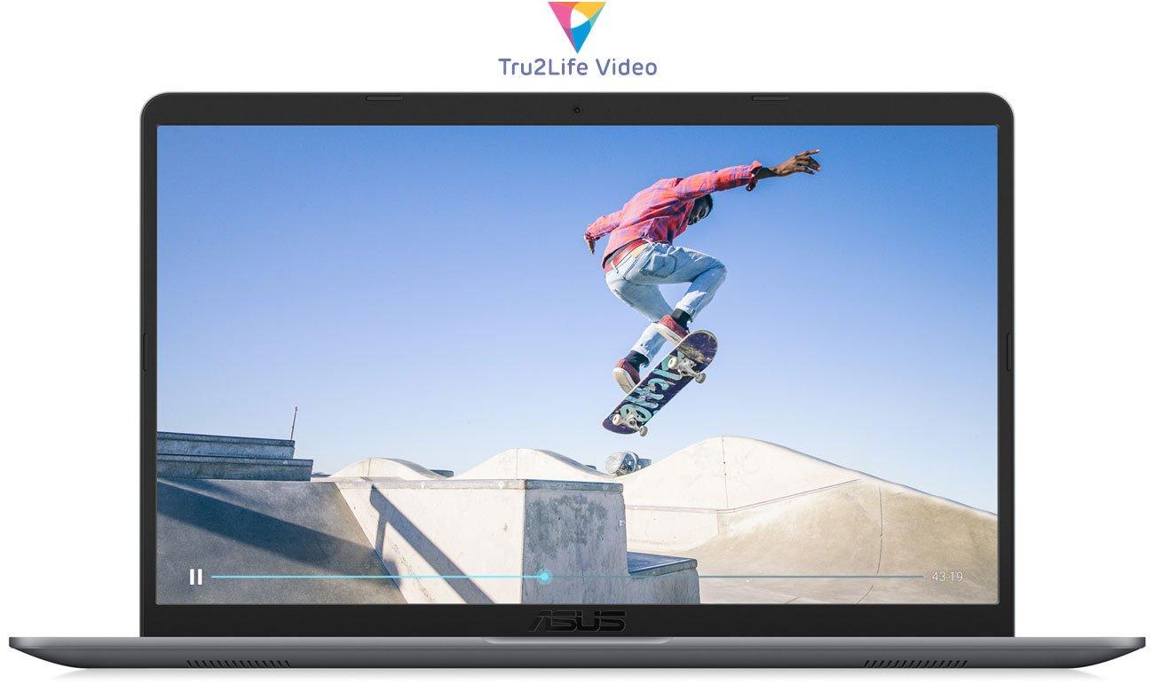 ASUS VivoBook S15 S510UN optymalizacja ostrości i kontrastu każdego piksela