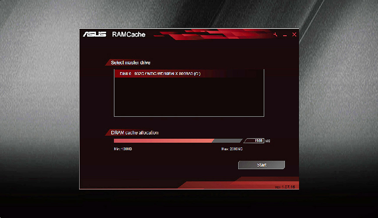 ASUS Z170 PRO GAMING RAMCache