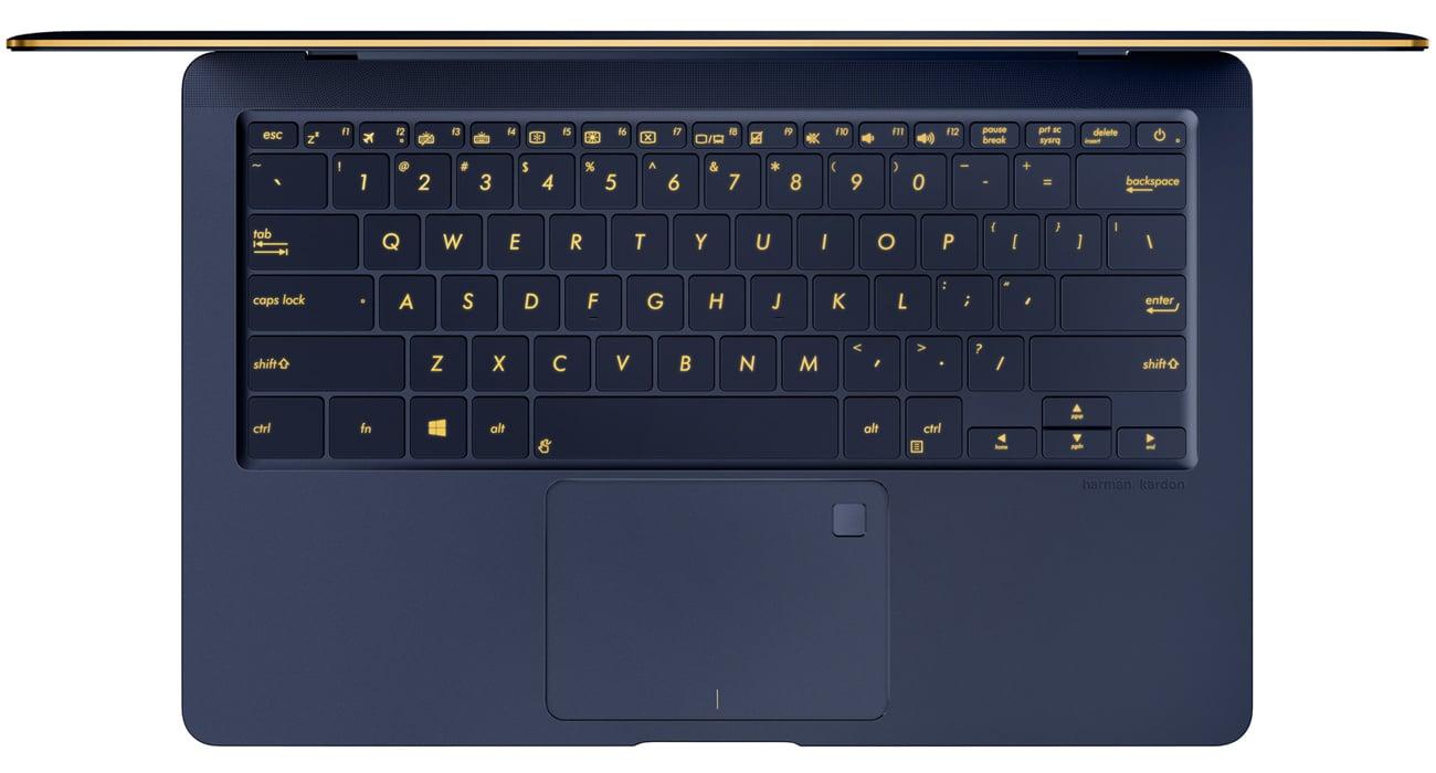 ASUS ZenBook 3 Deluxe UX490 Pełnowymiarowa i podświetlana klawiatura, precyzyjny panel dotykowy
