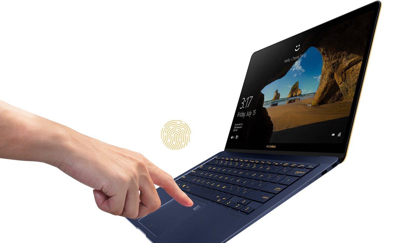ASUS ZenBook 3 Deluxe UX490 Czytnik linii papilarnych