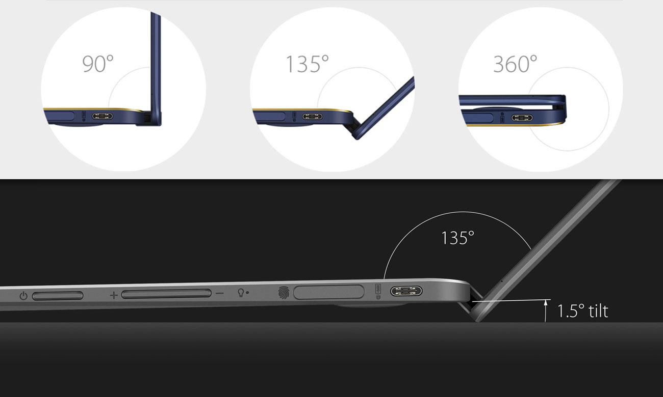 ASUS ZenBook Flip UX370UA Unikalny zawias ErgoLift 360 stopni