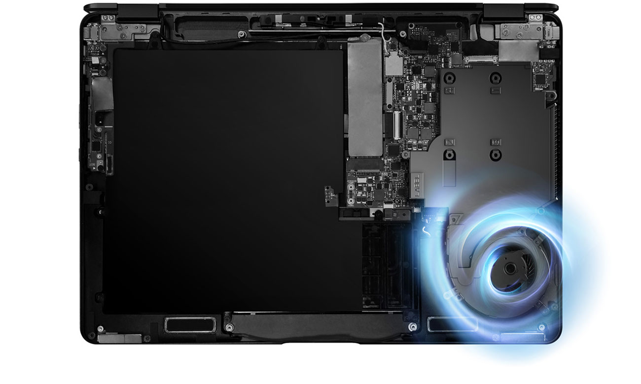 ASUS ZenBook Flip UX370UA Innowacyjny system chłodzenia
