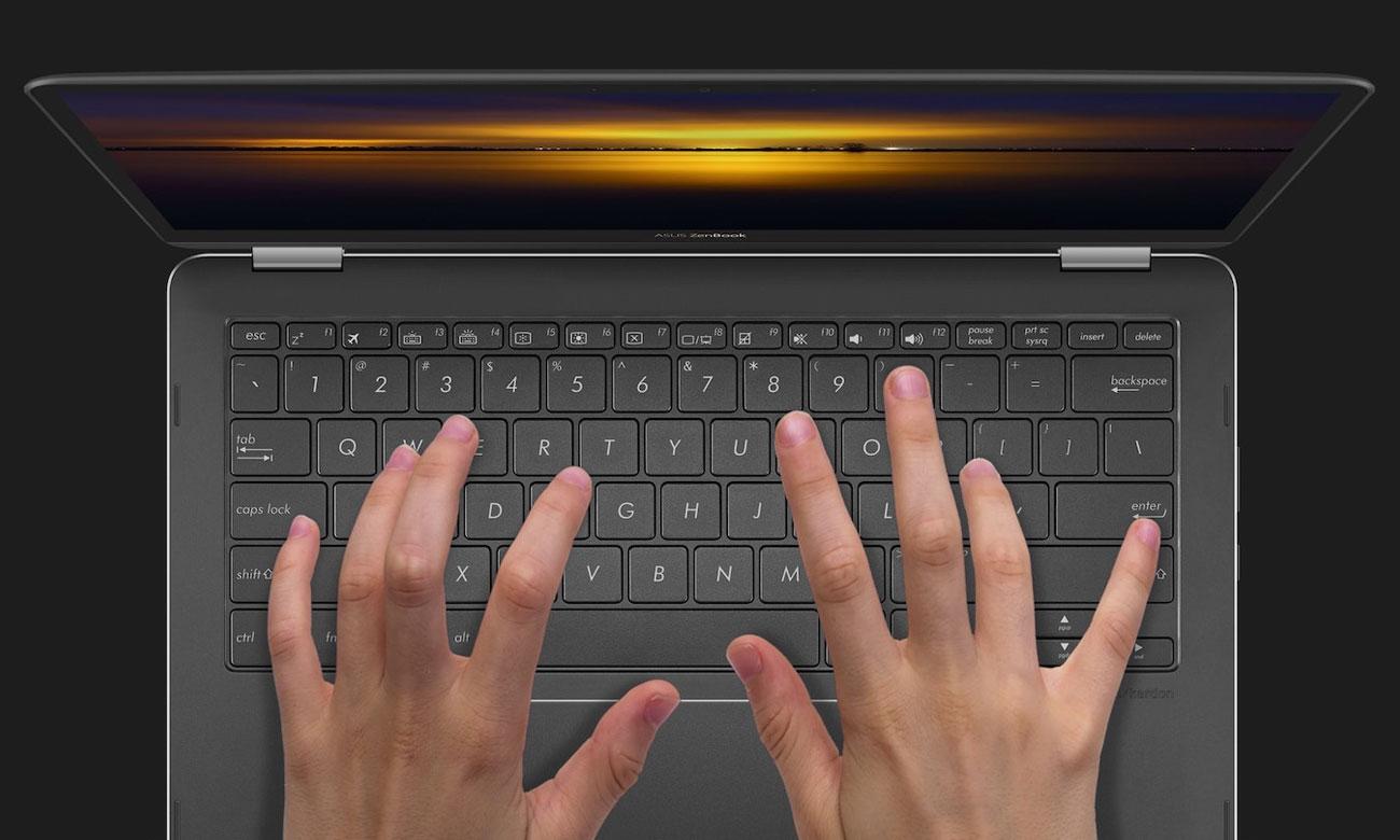 ASUS ZenBook Flip UX370UA Ergonomiczna, podświetlana klawiatura