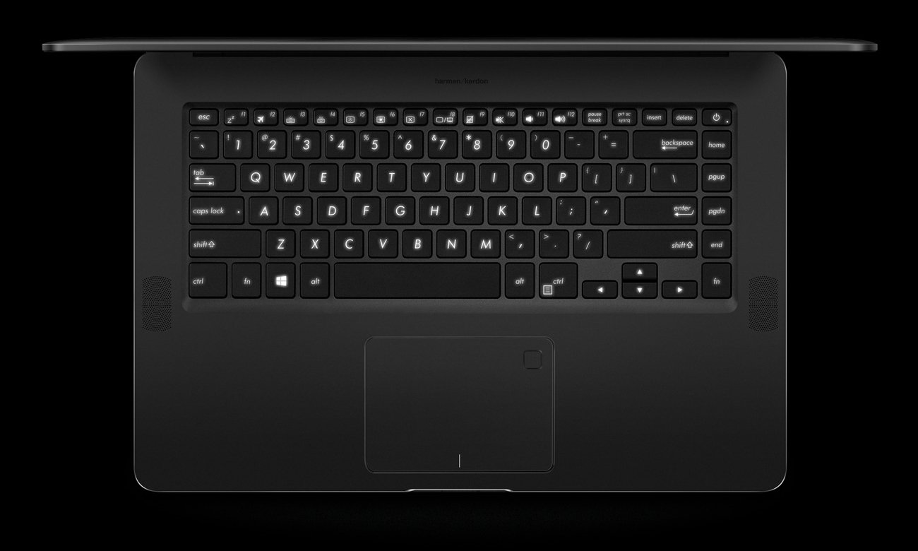 ASUS ZenBook Pro UX550VE Pełnowymiarowa i podświetlana klawiatura, precyzyjny touchpad