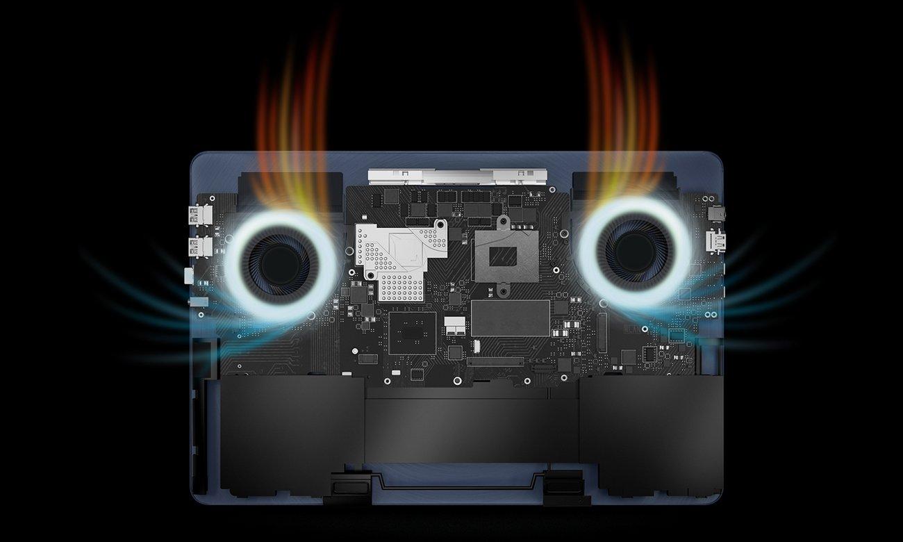 ASUS ZenBook Pro UX550VD Wydajny system chłodzenia