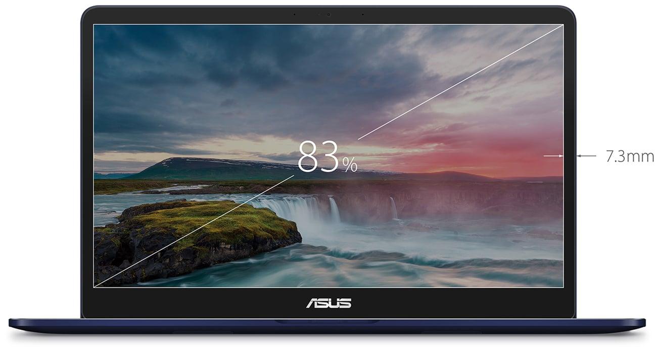 ASUS ZenBook Pro UX550VD Matryca NanoEdge z panoramicznym obrazem wysokiej jakości