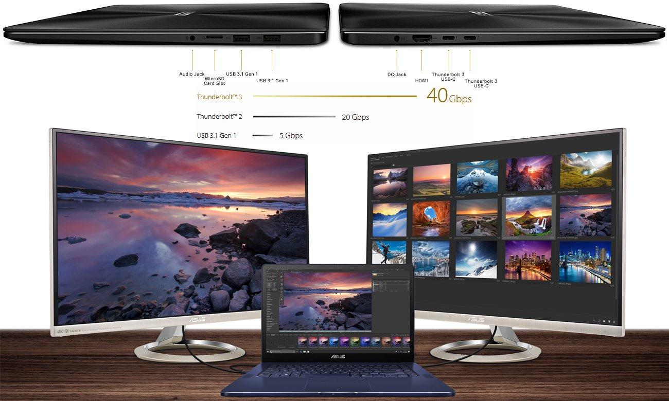 ASUS ZenBook Pro UX550VE USB-C, HDMI, Thunderbolt 3
