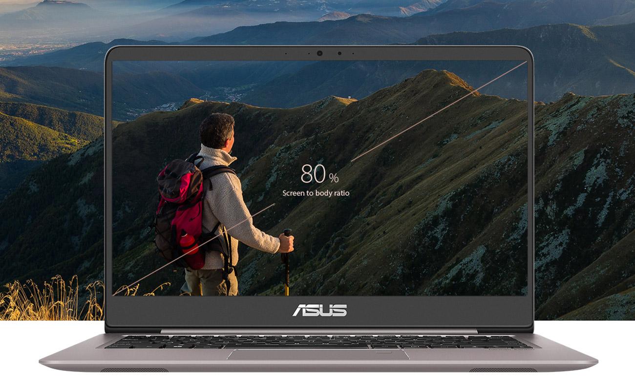 Laptop ASUS ZenBook UX410UQ Zmnieszona szerokość ramki wyświetlacza