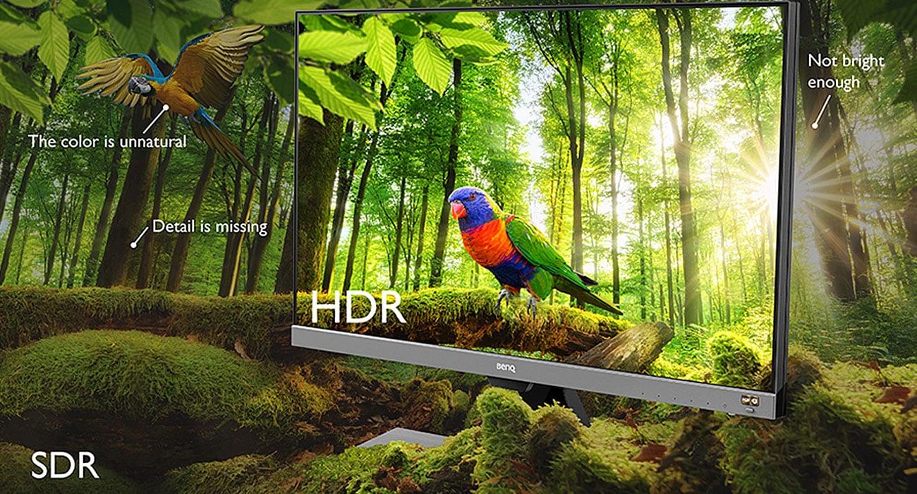 BenQ EW277HDR HDR Wysoki kontrast oraz pokrycie przestrzeni barw DCI-P3