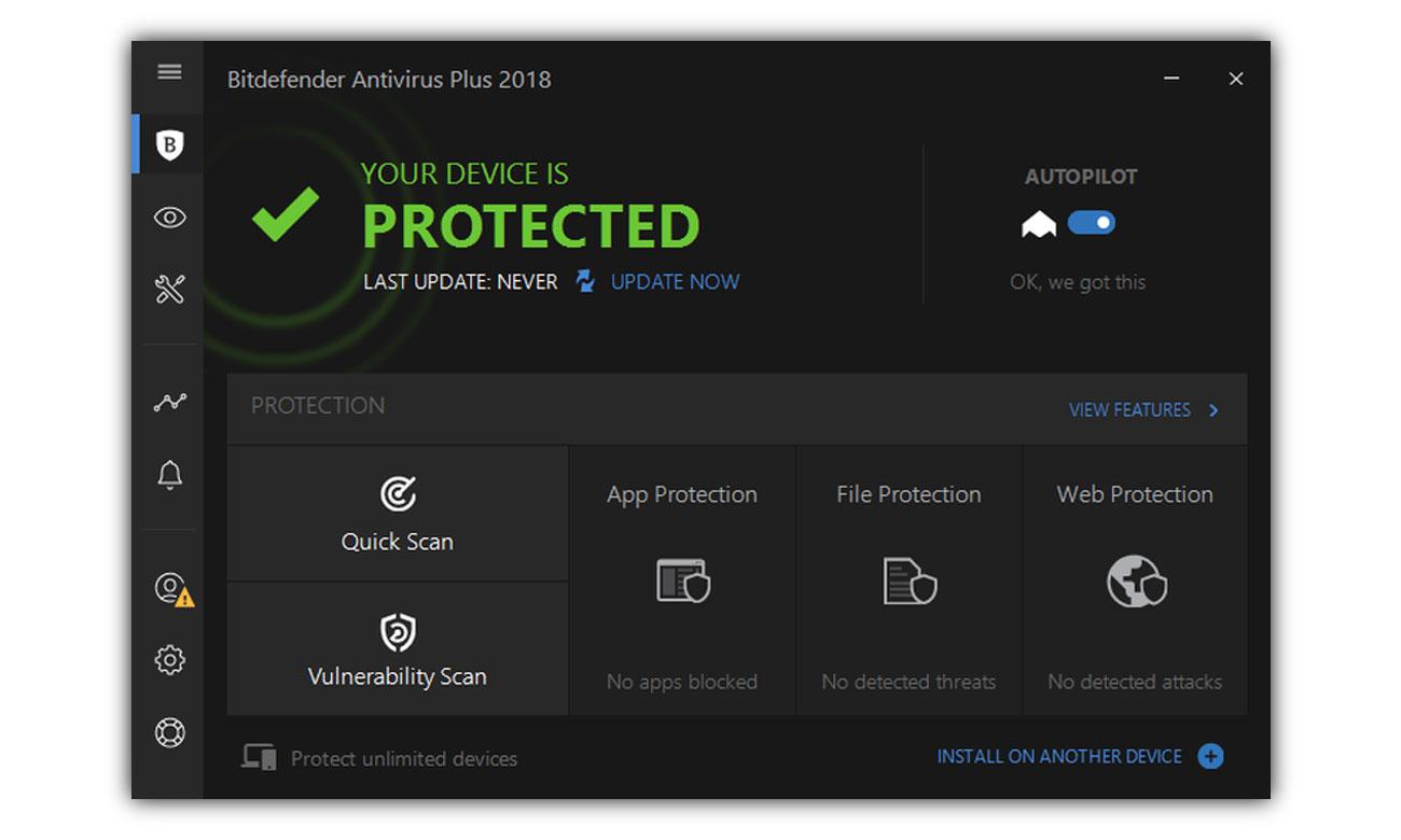 Bitdefender Antivirus Plus 2018 Wielowarstwowa ochrona przed ransomware
