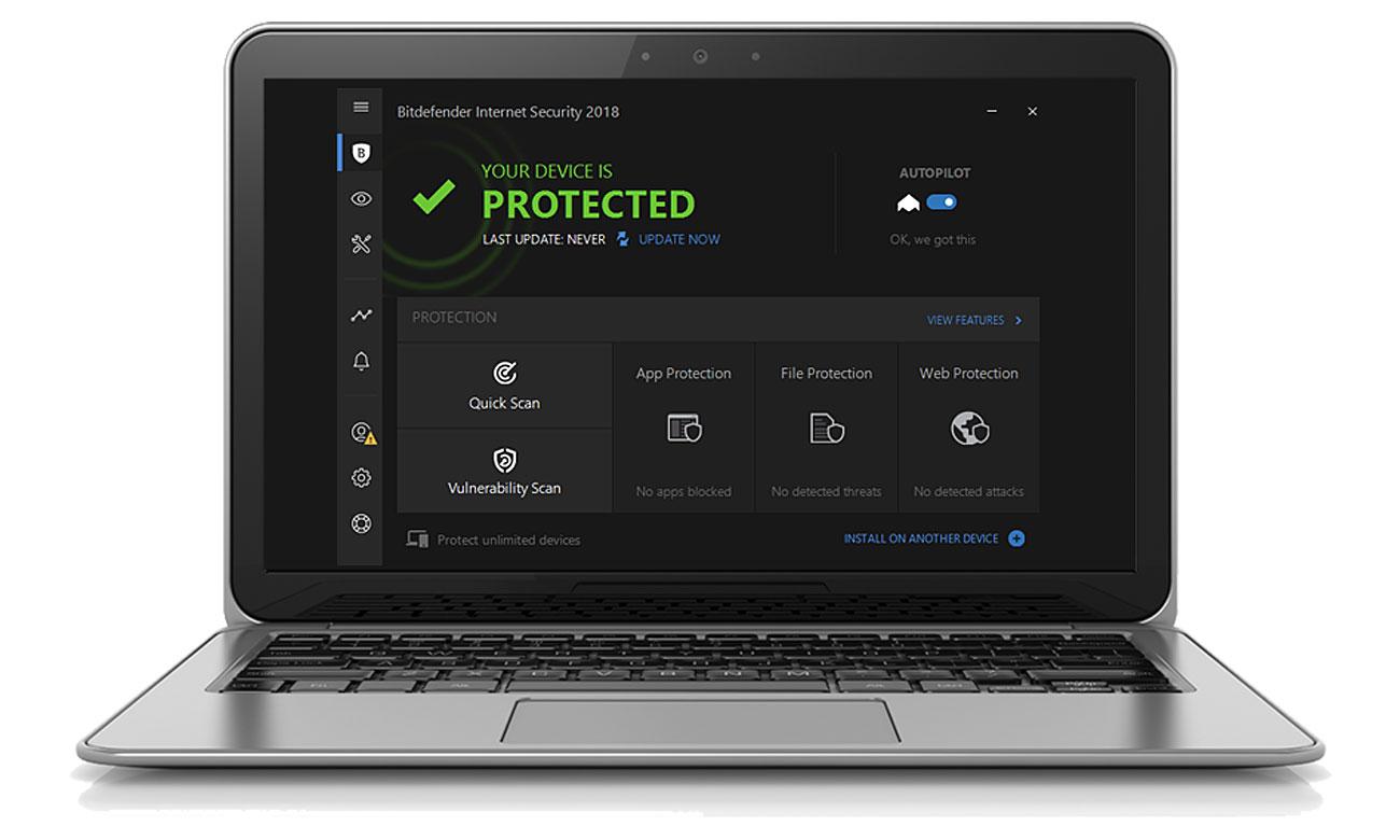 Bitdefender Internet Security 2018 Zaawansowana ochrona dla systemu Windows