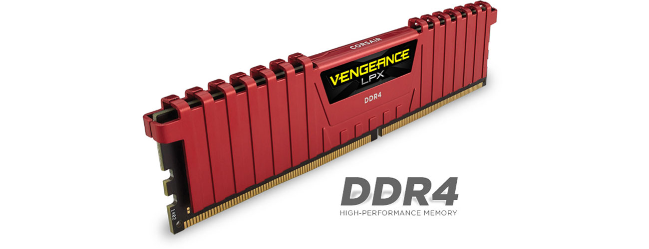 Pamięć RAM DDR4 Corsair Vengeance LPX Red CL13