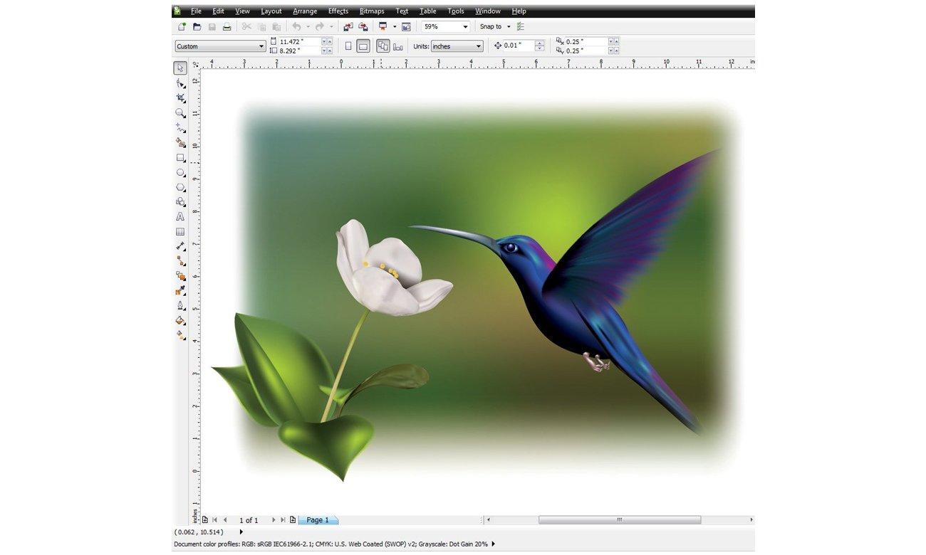 Corel CorelDRAW Graphics Suite X6 Special Edition narzędzia, funkcje