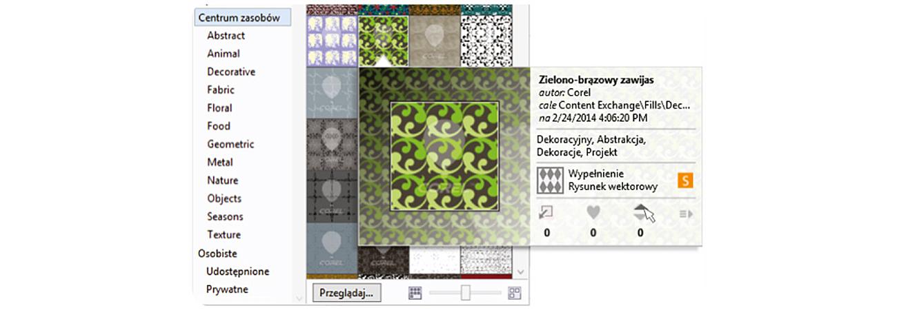 Corel CorelDRAW Graphics Suite X6 Special Edition Wbudowane Centrum zasobów