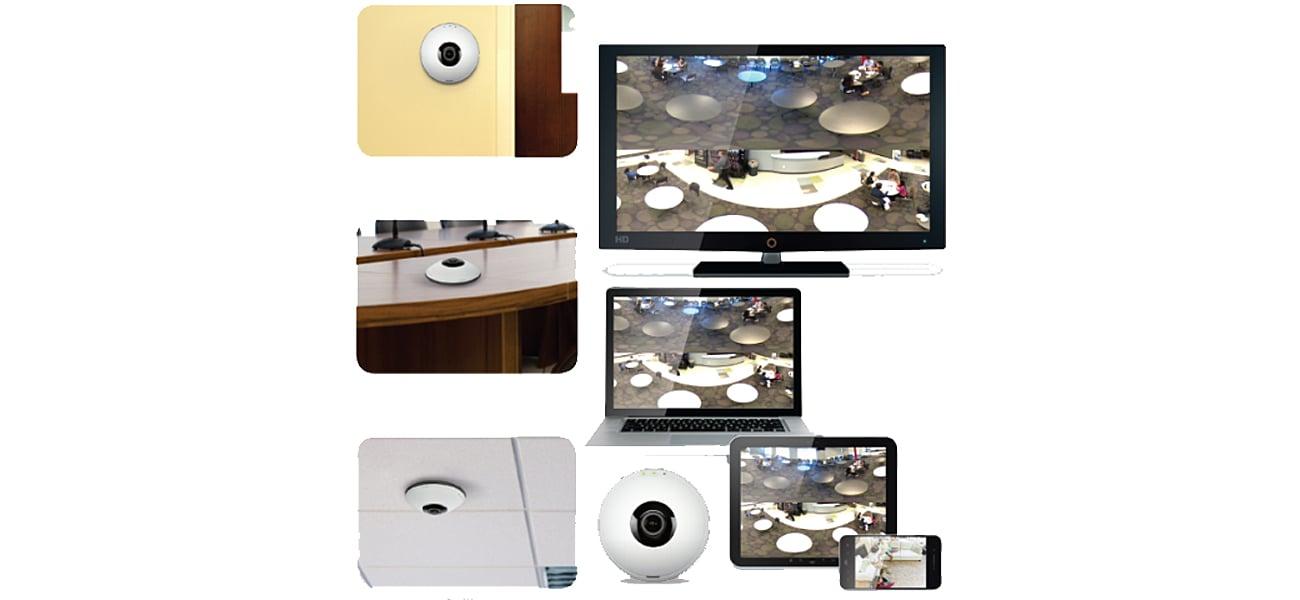 Kamera IP D-Link DCS-6010L WiFi 2Mpix Panoramiczna 360st - obraz bez zniekształceń