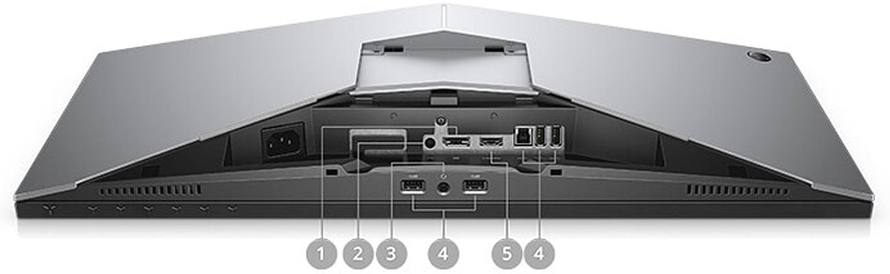 Dell Alienware AW2518H Bogata liczba złączy