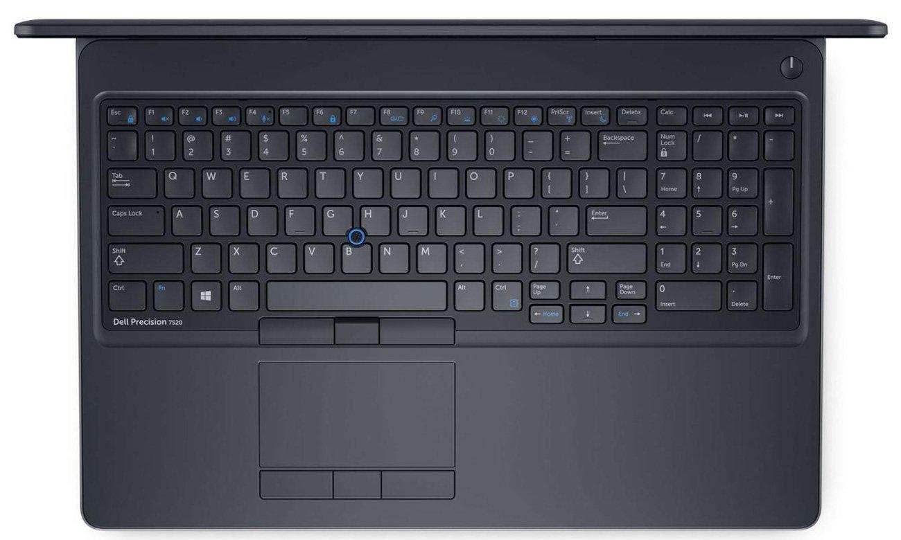Dell Precision 7520 Karta graficzna dla profesjonalistów NVIDIA Quadro M1200M