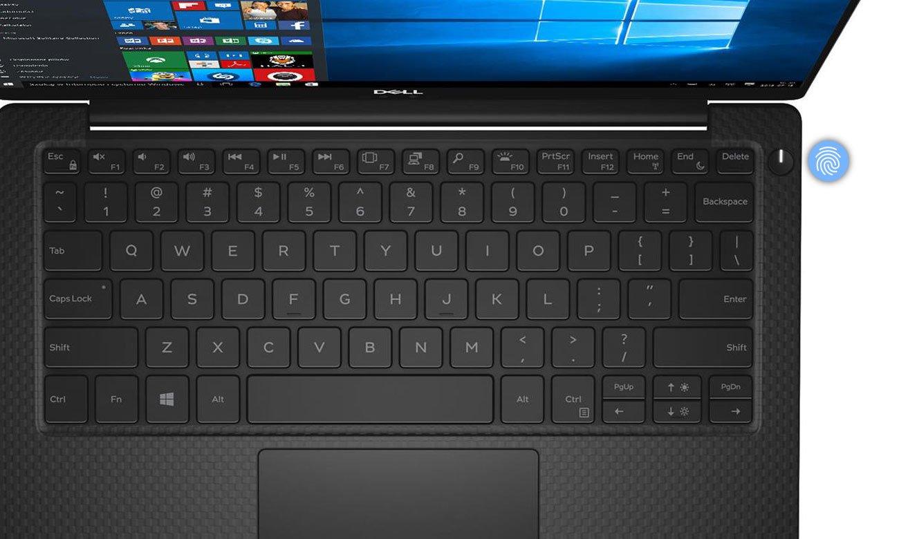 Dell XPS 13 9370 Wbudowany czytnik linii papilarnych