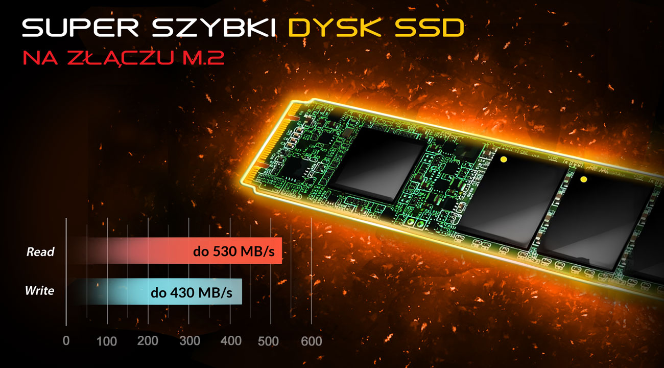 Dream Machines X1060-17PL32 Dysk SSD na złączu M.2