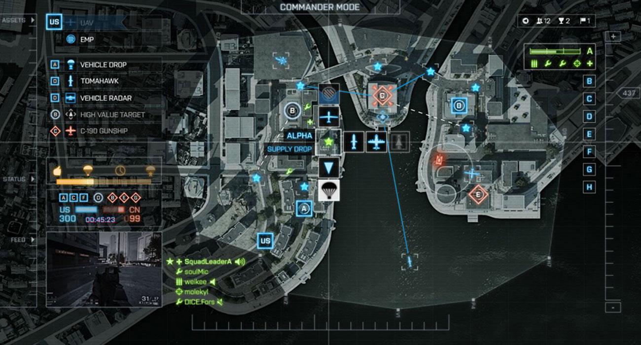 Battlefield 4 Tryb dowódcy